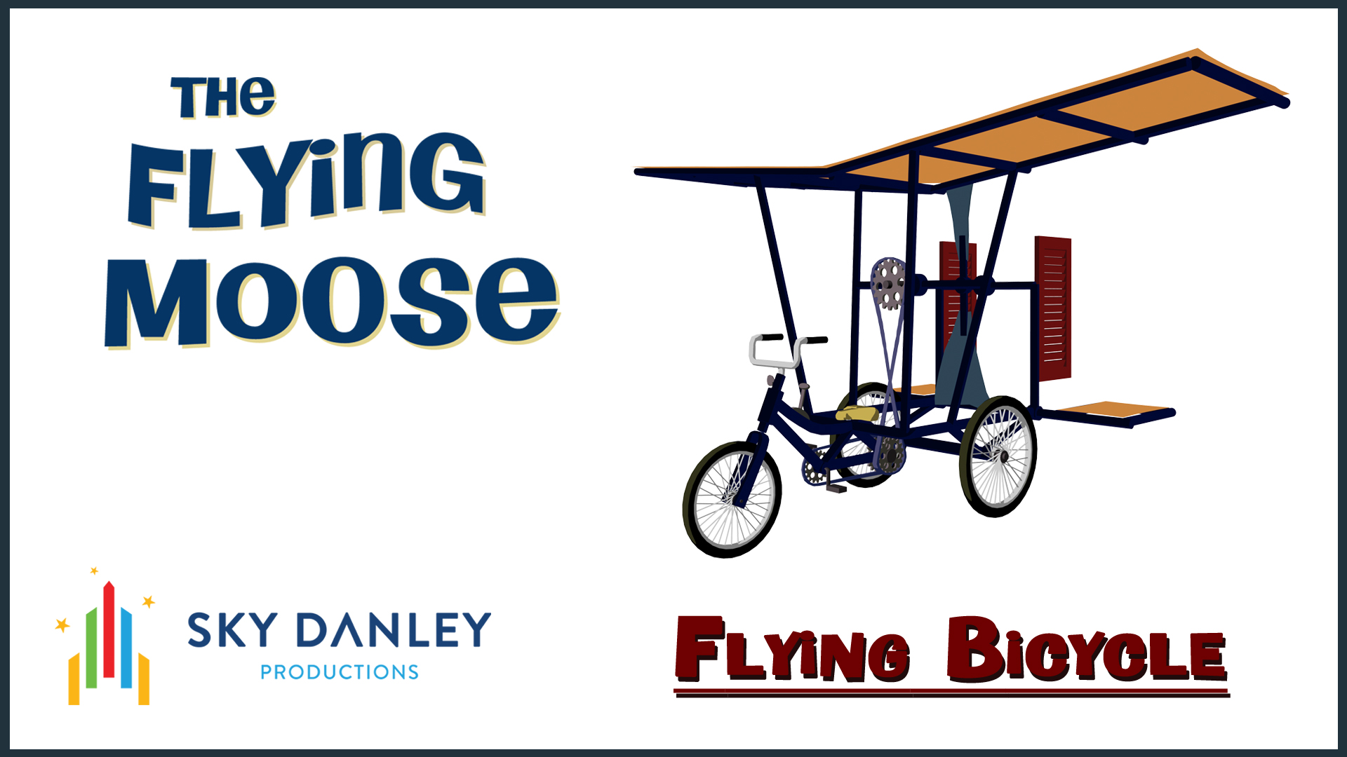 Flying Bicycle prop from THE FLYING MOOSE cartoon