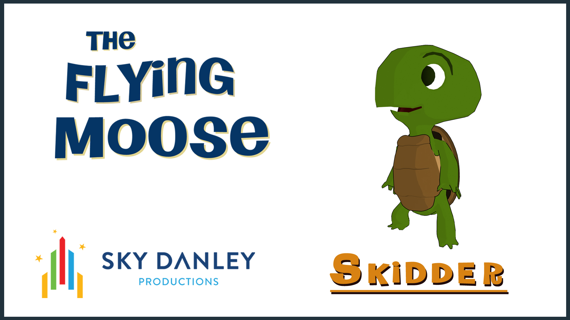 'SKIDDER' the Kid Turtle, a character design from THE FLYING MOOSE Cartoon