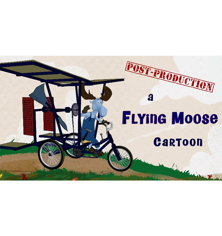 Flying Moose Cartoon